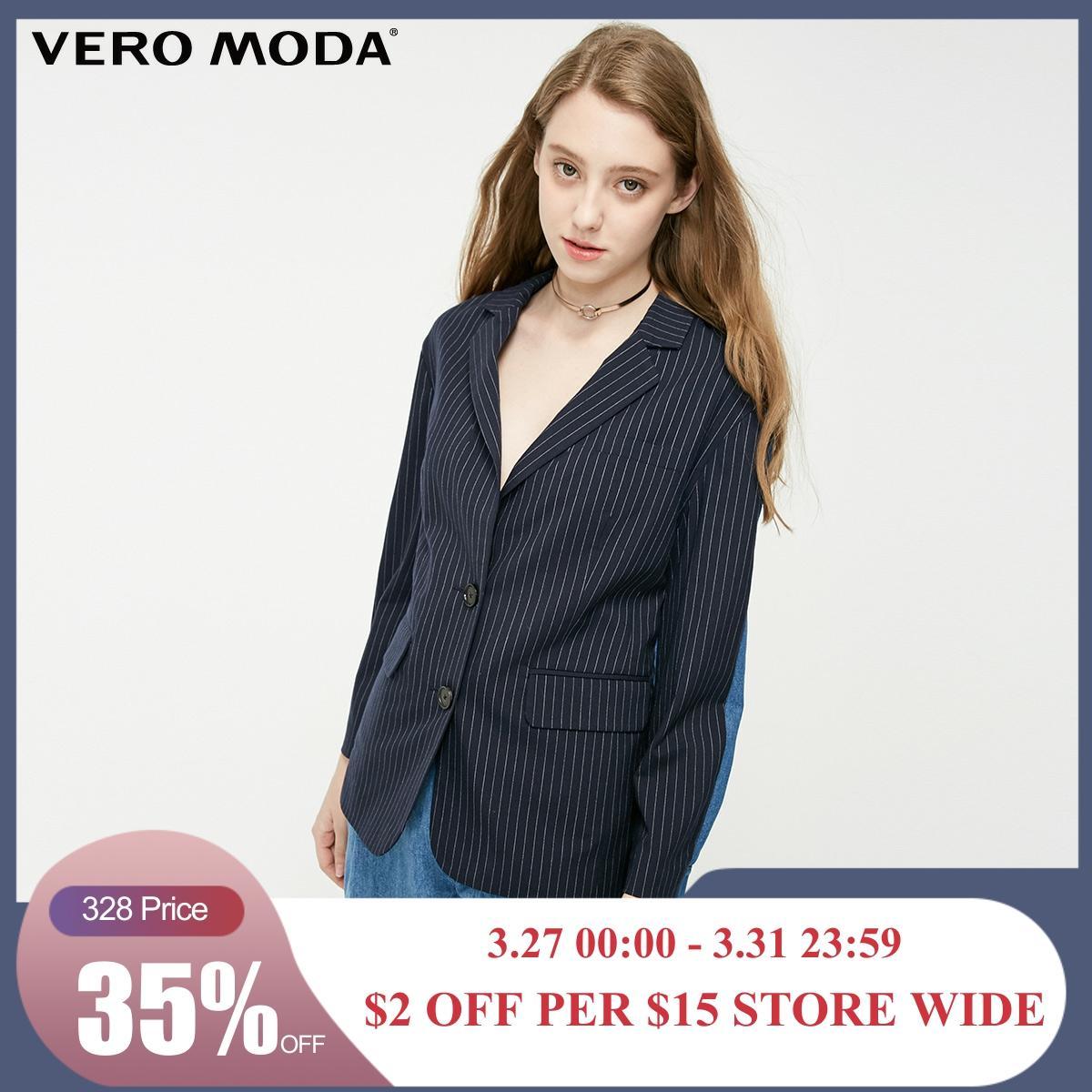 Vero Moda Women's Cotton Spliced Loose Fit Blazer | 319155501