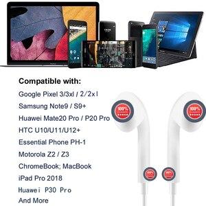 Image 5 - Тип C наушники с микрофоном проводные USB C Цифровые наушники DAC In Ear USB C гарнитуры для Pixel 2 3 XL Samsung Huawei Xiaomi HTC