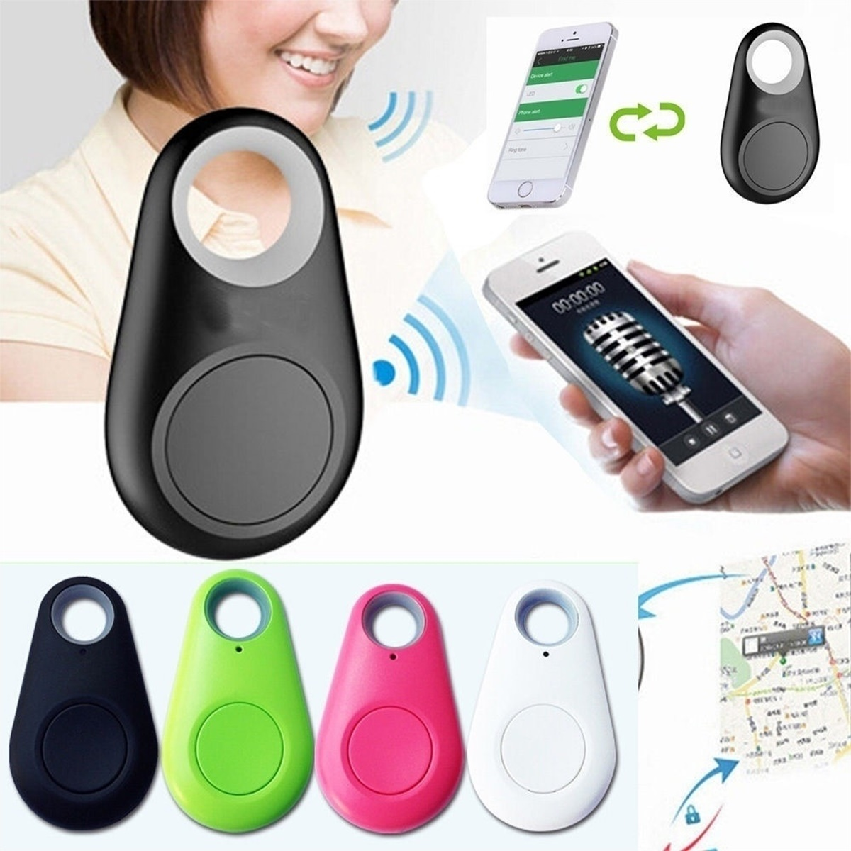 Smart Key Finder Wireless Bluetooth Tracker Anti Lost Alarm  Child Bag Pet GPS  Tracker For IPhone Android