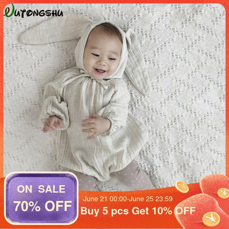 Baby Girl Clothes Christmas Baby Rompers Long Sleeves Newborn Clothing 0-24m Infant Jumpsuit Baby Rabbit Photography Costumes