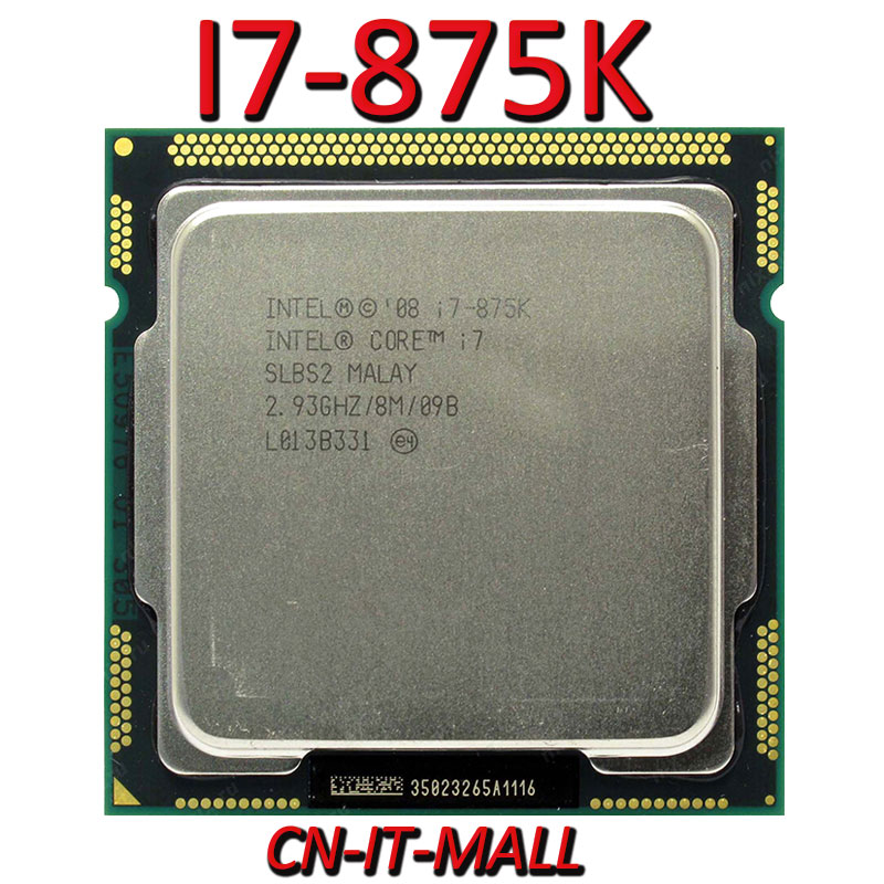 Intel Core I7-875K CPU 2.93G 8M 4 Core 8 Thread LGA1156 Processor