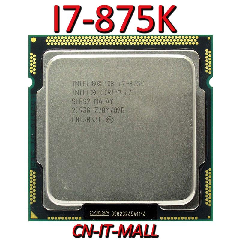 Intel Core I7-875K CPU 2.93G 8M 4 Core 8 Thread LGA1156 Processor