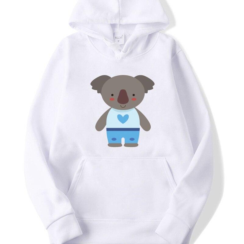 Streetwear Casual Hip Hop Hoodies Brand Harajuhku 2019 Women Sweatshirt Bear Aimal  Print Fall Winter Fleece Pullovers