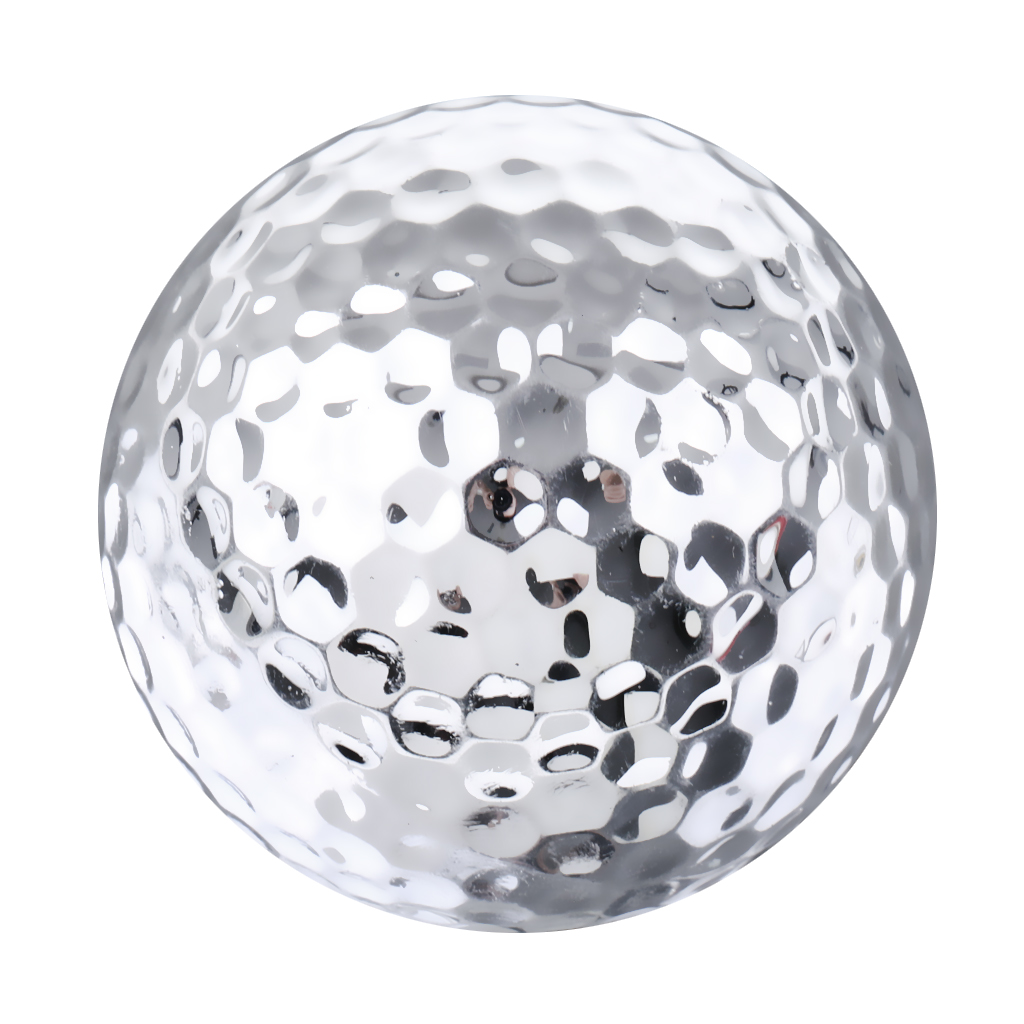 Professional Practice Golf Balls Two Piece Balls For Golf Training Practice, Silver, 1 Piece