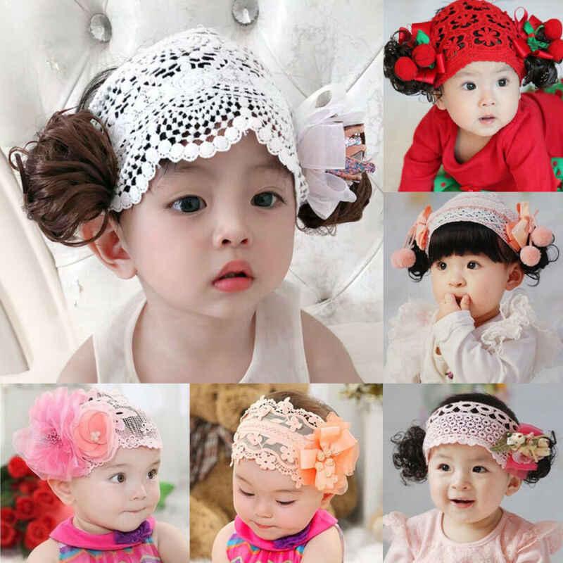 Newborn Baby Girls Pink Lace Bow Headband Socks Set Birthday Gifts Photo Props