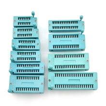 2 pcs zif 소켓 ic 소켓 14pin 테스트 범용 zif 소켓 14 p dip 16pin/18pin/20pin/24pin/28pin/32pin/40pin 16 p/18 p/20/24 p/28 p