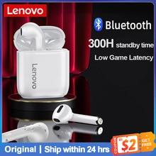 Oryginalny Lenovo LP2 TWS bezprzewodowe słuchawki Bluetooth 5.0 podwójny stereofoniczny bas sterowanie dotykowe słuchawki IPX5 wodoodporny zestaw słuchawkowy Mic