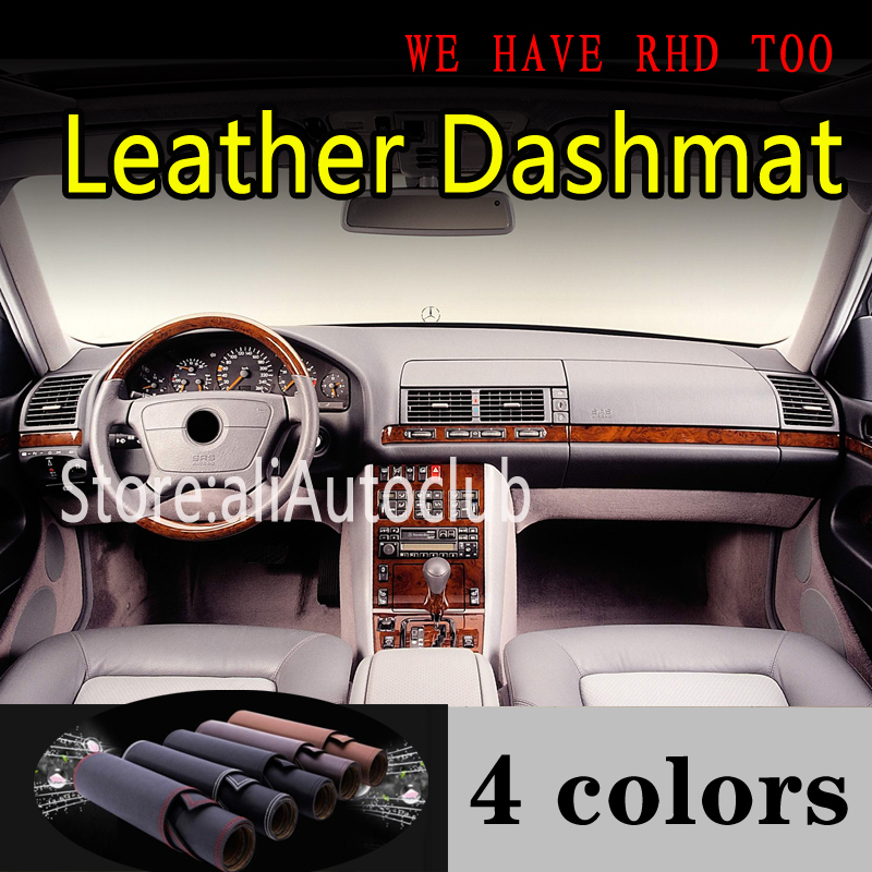 For Mercedes-Benz S Class W140 300SEL 350SDL 400 500 600 280 320L 420L Leather Dashmat Dashboard Cover Dash Mat Sunshade Carpet