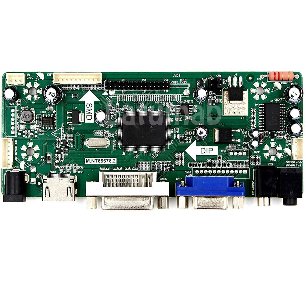 Kit for  LP141WX3 TL N2 LCD Screen Controller Board NT68676 HDMI+DVI+VGA