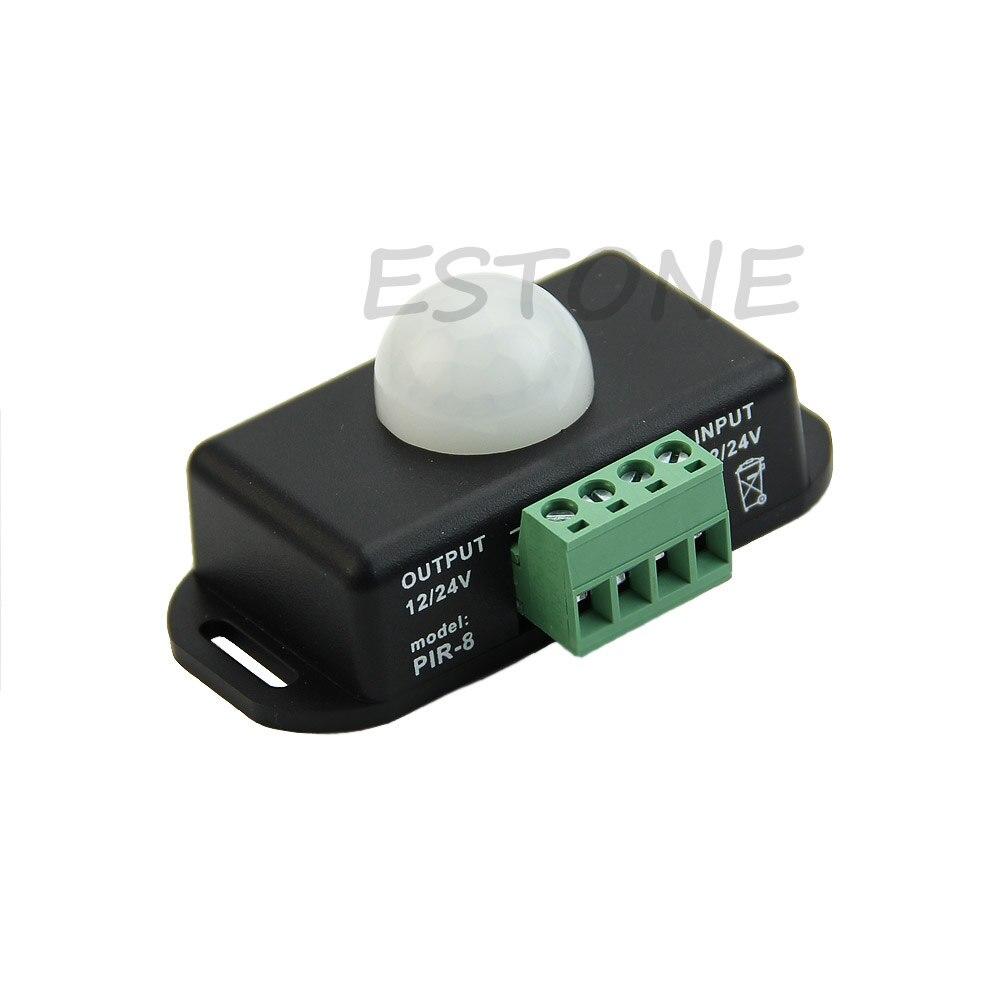 Automatic DC 12V-24V 6A Infrared PIR Motion Sensor Switch For LED Light Useful Auto Brake System Parts