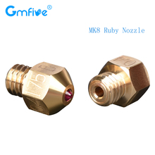 GmFive High Temperature MK8 Ruby Nozzle  1.75MM Fit With Special Materials Petg ABS Pei Peek Nylon For Ender 3 Cr10