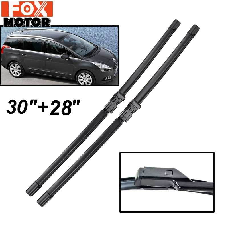 "Misima 30"" 28"" For Peugeot 5008 2009 2010 2011 2012 2013 2014 2015 2016 Front Window Windscreen Wiper Blades"