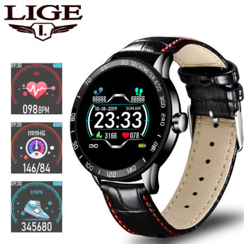 цена на LIGE Sports Smart Watch Men Smart Fitness Watch heart rate blood Pressure Monitor Pedometer for Android ios Active smartwatch