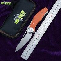 Espinho verde Escuro feito à D2 titanium flipper Faca dobrável lâmina G10 LIDAR sobrevivência ao ar livre caça camping faca de frutas ferramentas edc
