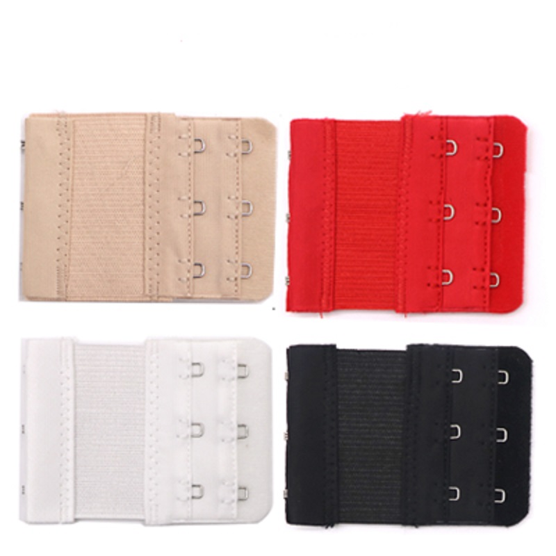 3/4pcs Bra Extenders Strap Buckle Extension 2 Row 3 Hook Clasp Straps Women Bra Strap Extender Sewing Tool Intimates Accessories