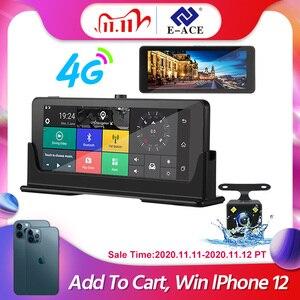 E-ACE D13 Автомобильный видеорегистратор 10 дюймов зеркало заднего вида Full HD 1920x1080 Автомобильная камера 4G Android GPS видеорегистратор с двумя объект...