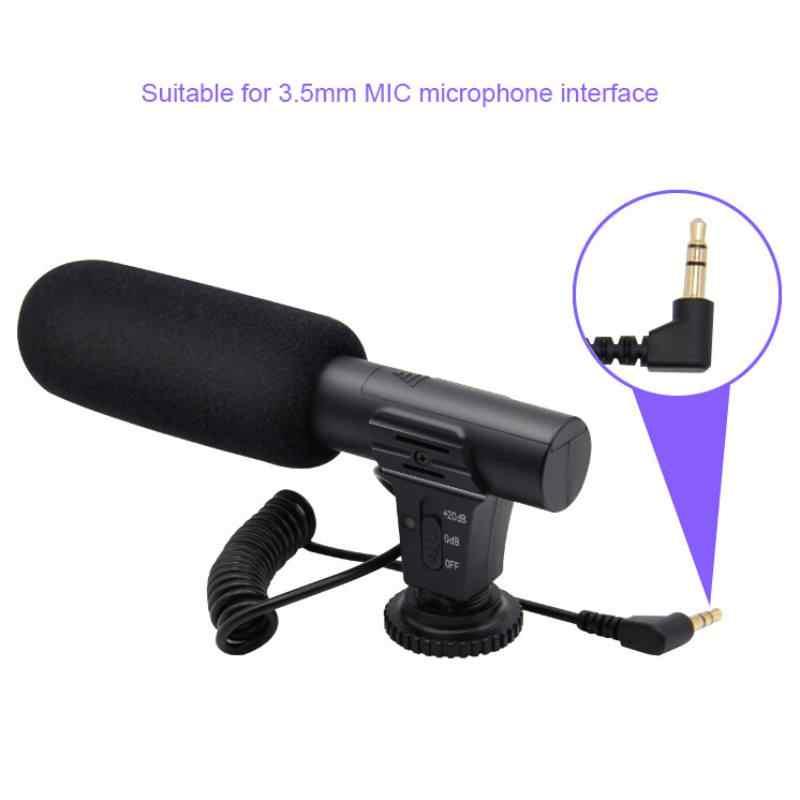 Гиперкардиоидная камера видео Открытый ПК записывающий Hifi HD звук 3,5 мм микрофон профессиональный микрофон для интервью MIC-05