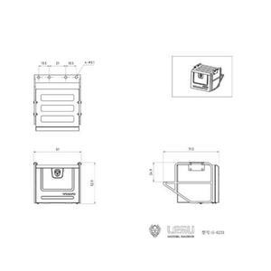 Image 5 - 1/14 RC LESU Model parçaları Metal araç kutusu 1/14 VOL FH16 FH12 traktör kamyon TH15254