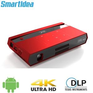 Image 1 - Smartldia H96 max Mini HD 4K العارض أندرويد 6.0 المزدوج 2.4G 5G واي فاي المنزل الذكي سينما proyector لعبة فيديو بلو توتر 4.1 متعاطي المخدرات