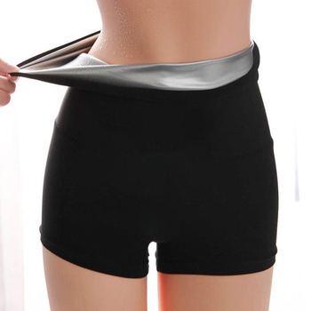 Women Sauna Sweat Pants Thermo Fat Control Legging Body Shapers Fitness Stretch Control Panties Waist Slim Shorts