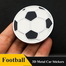 1 шт 3d металлическая футбольная Наклейка автомобильный значок