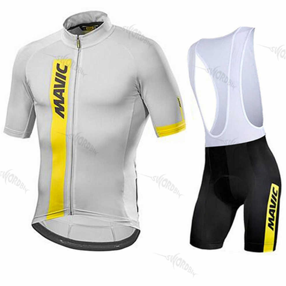 Bersepeda Jersey 2019 Tim Pro Mavicing Bersepeda Pakaian MTB Sepeda Seragam Bib Celana Pendek Pria Triathlon Sepeda Jersey Set Ropa Ciclismo