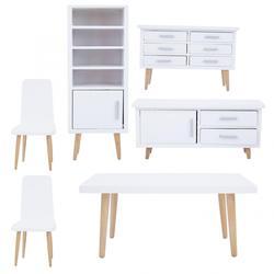 Миниатюрный деревянный кукольный домик, мебельный набор, 1:12 для кукол, имитация дерева, гостиной, столовой, мебель для детей, ролевые игры, ...