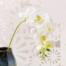 70cm 나비 난초 인공 식물 홈 정원 장식 가짜 식물 웨딩 벽 아치 장식 인공 꽃