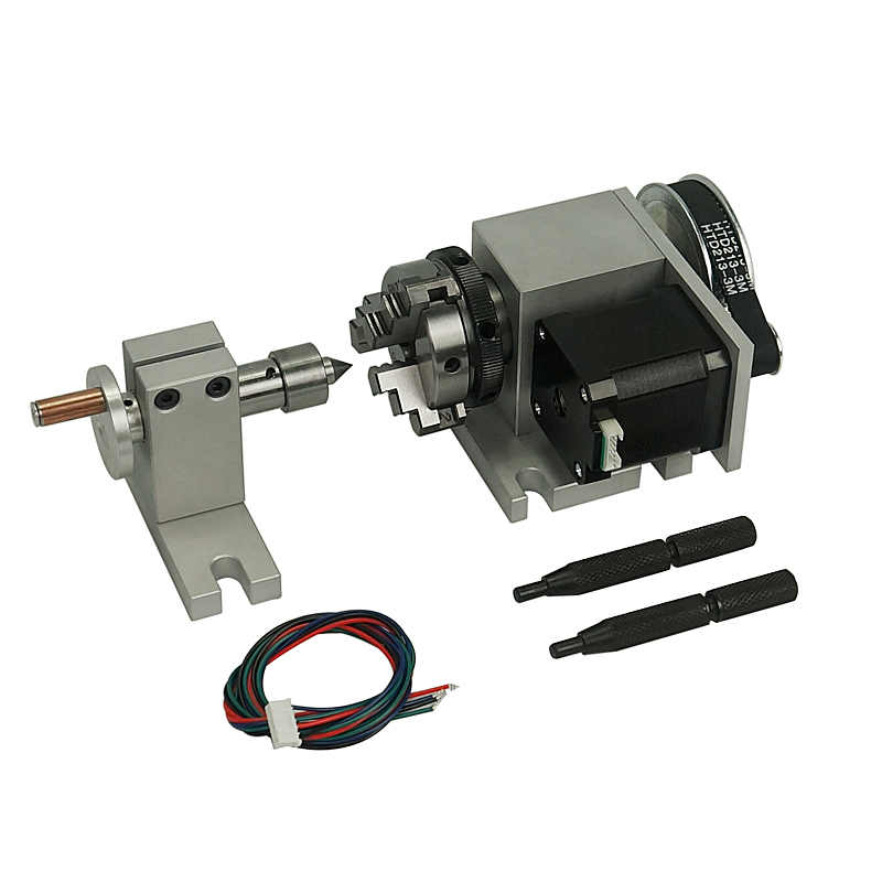 CNC Dividing Head A Axis Rotation 3 Claw Chuck For The Cnc Router Cnc Engraving Machine+Tailstock