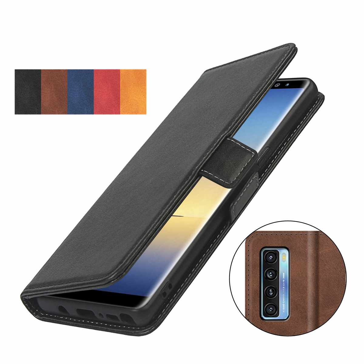 pu leather Fitted Case for TCL 20S/20 5G/20L+ Wallet Cover Short-buckle Flip book holster protective phone bag case GG