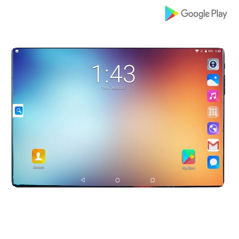 2021 Android 9,0 планшетный ПК 10 дюймов для Google Play 2.5D закаленное стекло Экран Octa Core dual SIM 4 аппарат не привязан к оператору сотовой связи WI-FI GPS Операт...