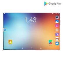 2021 android 9.0 tablet 10 polegada para google play 2.5d tela de vidro temperado octa núcleo sim 4g lte wifi gps ram 6gb 128gb comprimidos