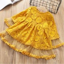 Коллекция года, весенне-осеннее Новое модное платье принцессы с цветочным рисунком детское платье Одежда для девочек платье для девочек Одежда для девочек от 2 до 7 лет