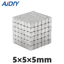 20/50Pcs 5×5×5mm N35 Neodymium Magnets Mini Small Blocks Super Strong Cuboid Power Rare Earth Rectangular5 * 5 5mm