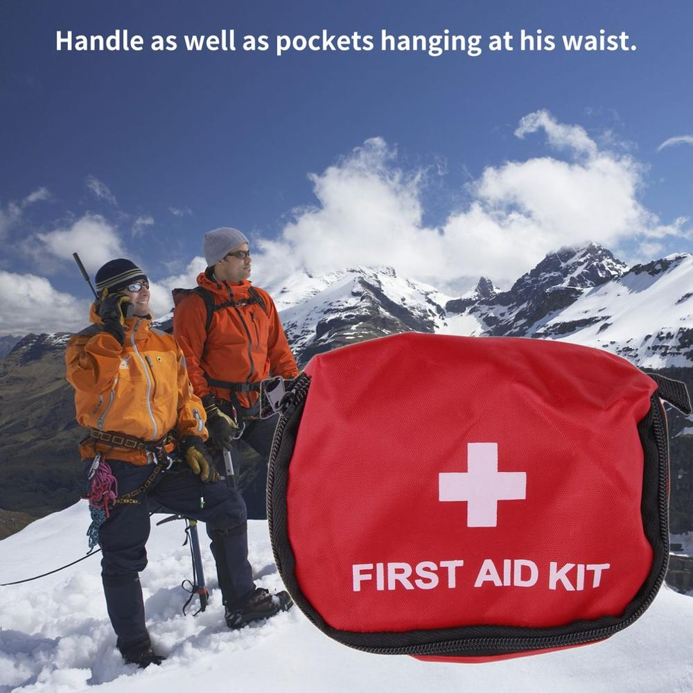 First Aid Kit 0.7L Red PVC Outdoors Camping Emergency Survival Kit Bandage Drug Waterproof Storage Medical Bag 11*15.5*5cm