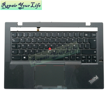 laptop keyboard for Lenovo Thinkpad X1 carbon Gen 2nd 2014 BE keyboard with backlit Palmrest TOP Case 04X6494 0C45075 MQ-69B0