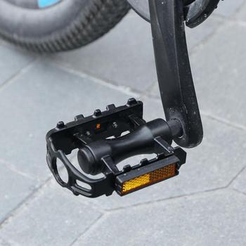 Ultralekki rower górski pedały rowerowe nylonowe włókna MTB pedał do roweru górskiego stóp drogowe łożysko rowerowe pedały części rowerowe tanie i dobre opinie OUMIAO Ultralight pedału 12*10*2 5cm Rowery drogowe Ultralight Pedal Z tworzywa sztucznego mountain bikes Black Support