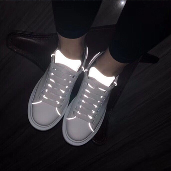 Women Trainers Sneakers Casual Shoes Women Sports Wild Little White Korean New Adhesive Craft Sequin Shoes Thick Bottom 2020