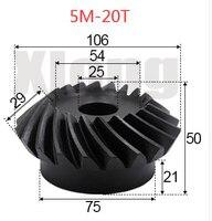 5M 20Teeths Innere Loch: 25mm Precision Spiral Kegel Getriebe Spiral Kegel Getriebe-in Zahnräder aus Heimwerkerbedarf bei