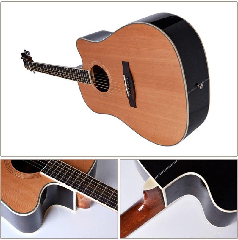 Guitare 40/41 pouces haute qualité guitare 6 cordes épicéa Rose acajou guitare haute brillance haut rigide GuitarAGT150 - 5