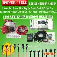ON/OFF 스위치가있는 최신 iPower pro 케이블 iPhone 6G/6P/6S/6SP/7G/7P/8G/8P/X DC 전원 제어용 iPower Pro 테스트 케이블