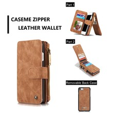 For iPhone SE 2020 Wallet Case Caseme Vintage Leather Flip Book Style Mobile Phone Bag For iPhone se 2 Coque Brown