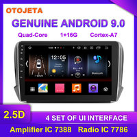 OTOJETA Android 9.0 Player Smart Car Multimedia Radio For 2018 Peugeot 2008 208 CITROEN GPS Bluetooth Navigation tape recorder