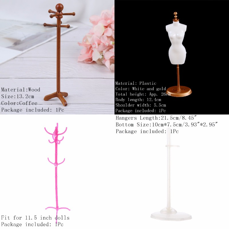 1/12 Classical Dollhouse Miniature Furniture House Decoration Clothes Stand Hanger Shelf