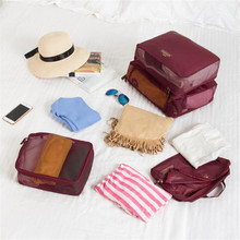 Travel Bags Waterproof Clothes Storage Luggage Organizer For Clothes Pouch Luggage Container Underwear Shoe Organizer cheap Clyine NYLON Versatile 11 02inch 14 17inch zipper Travel Totes 272g Soft Casual 3 94inch Solid WOMEN