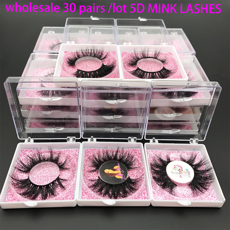MIKIWI 30 Pairs Wholesale Order Mink Eyelashes Soft Dramatic Eyelashes 5D Mink Eyelashes Thic Natural Long Volume Mink Eyelashes