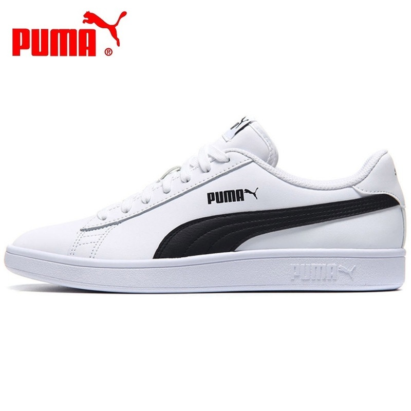Original Authentic PUMA Smash v2 L Unisex Skateboarding Shoes Casual Sneakers Low Shoes Classics Light Weight Sneakers 36521501