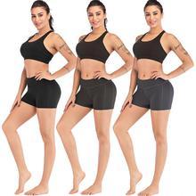 High Waist Gym Shorts Solid Elastic Fitness Yoga Shorts Women Training Workout Short Legging Female Quick Drying Sport Leggings