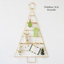 北欧アドインミニゴールドホワイトクリスマスツリーセットホーム壁掛け diy のスタークリスマス装飾新年キッズルームのインテリア用品