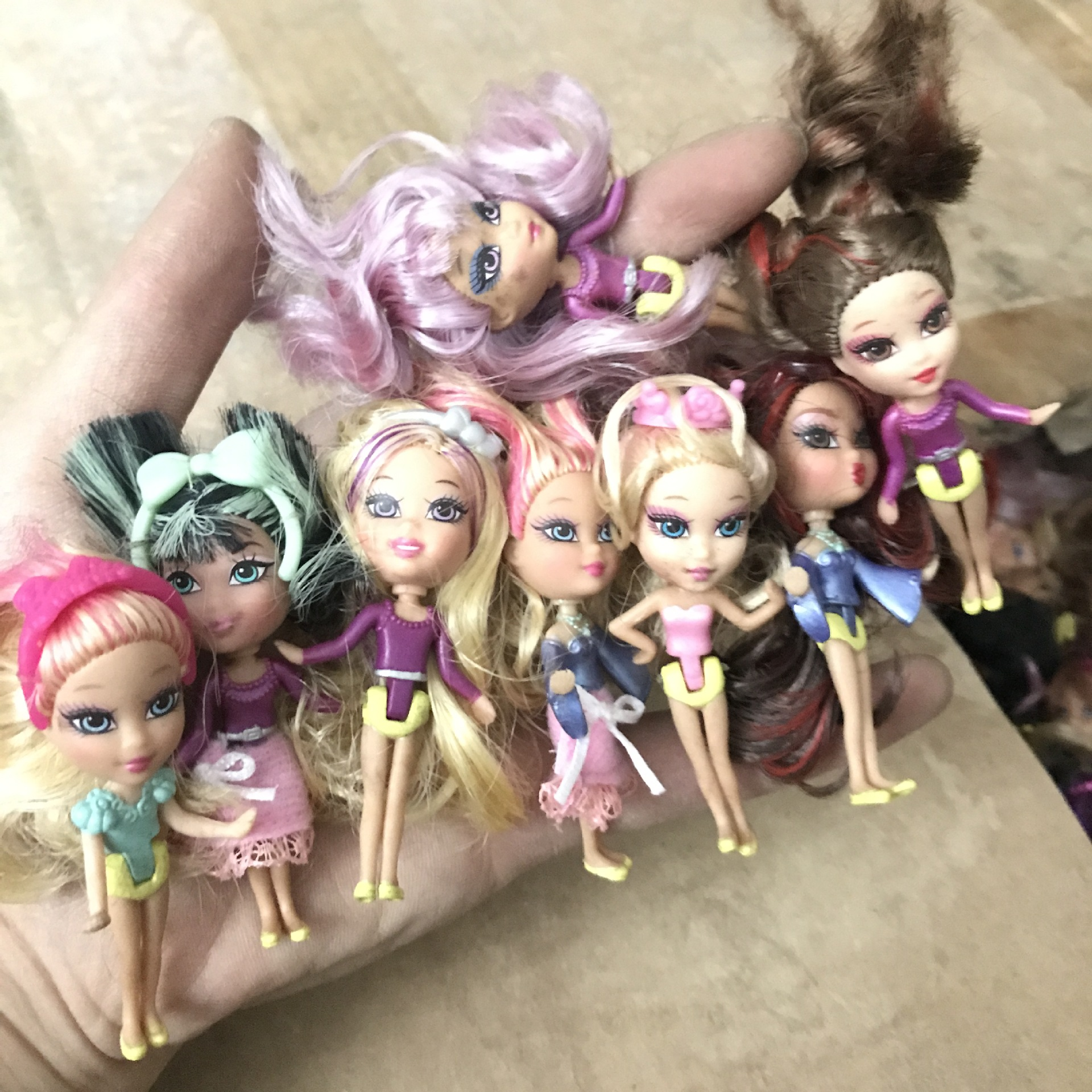 Cute Mini Princess Doll Play House Baby Doll Joint Fashion Girl DIY Hand Made Material Toy Gift Collection